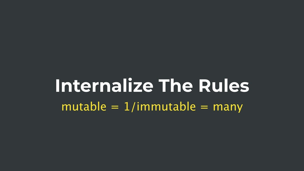 Internalize The Rules mutable = 1/immutable = m...