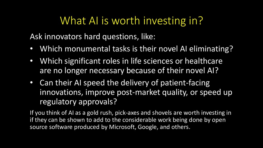 What AI is worth investing in? Ask innovators h...