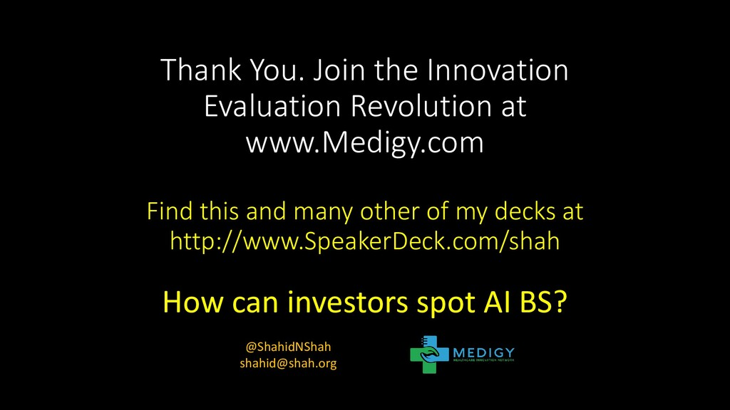 Thank You. Join the Innovation Evaluation Revol...