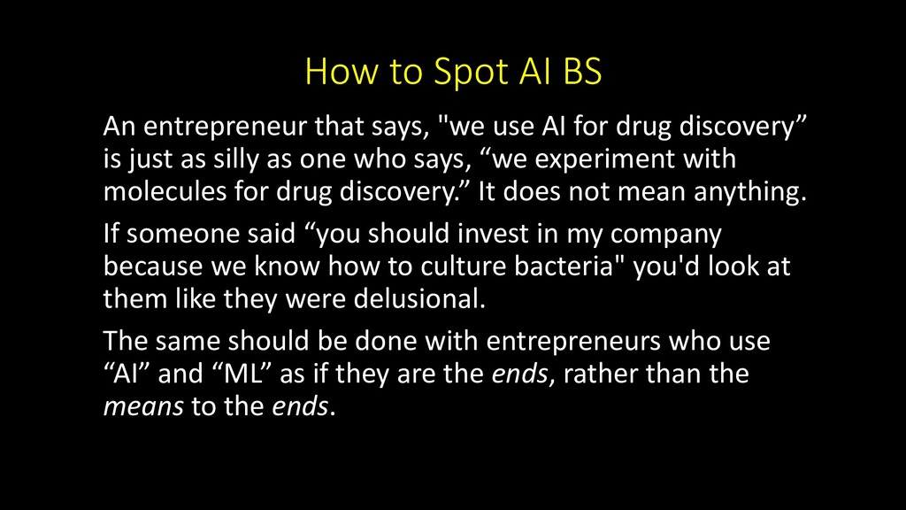 "How to Spot AI BS An entrepreneur that says, ""w..."