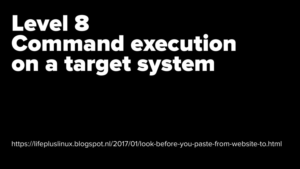 Level 8 Command execution 