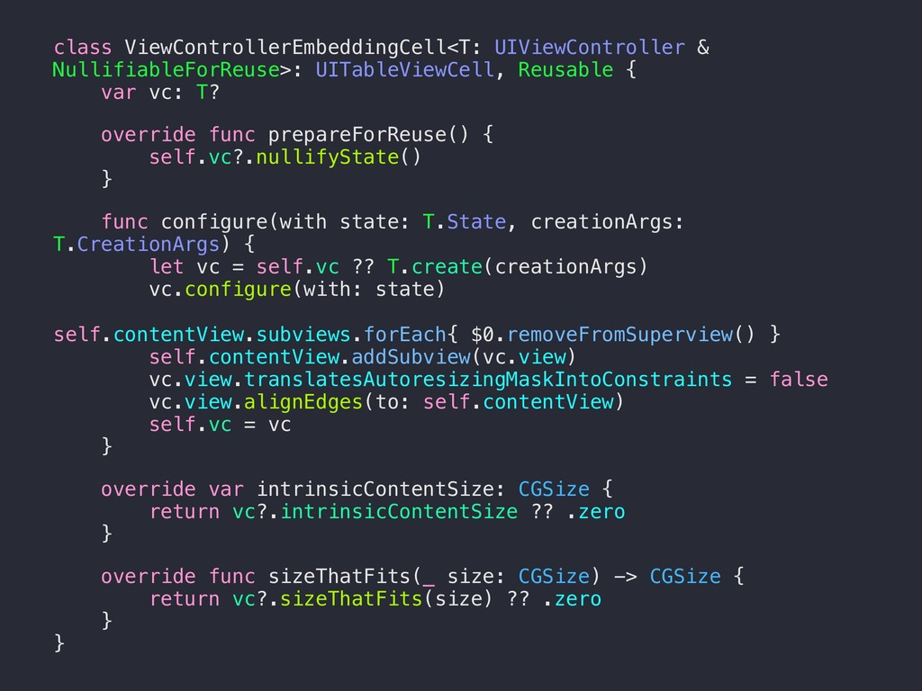 class ViewControllerEmbeddingCell<T: UIViewCont...