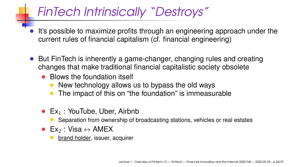 """FinTech Intrinsically """"Destroys"""" It's possible ..."""