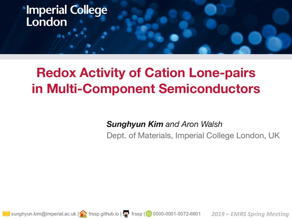 Redox Activity of Cation Lone-pairs in Multi-Co...