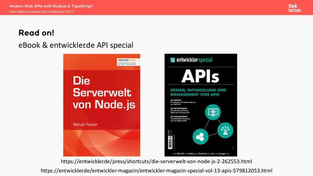 eBook & entwickler .de API special Modern Web A...