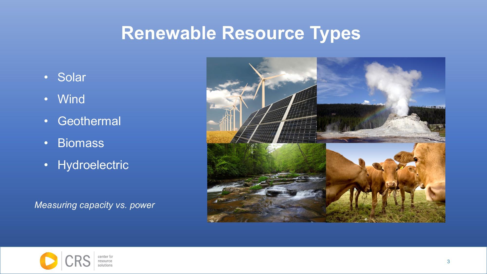 3 • Solar • Wind • Geothermal • Biomass • Hydro...