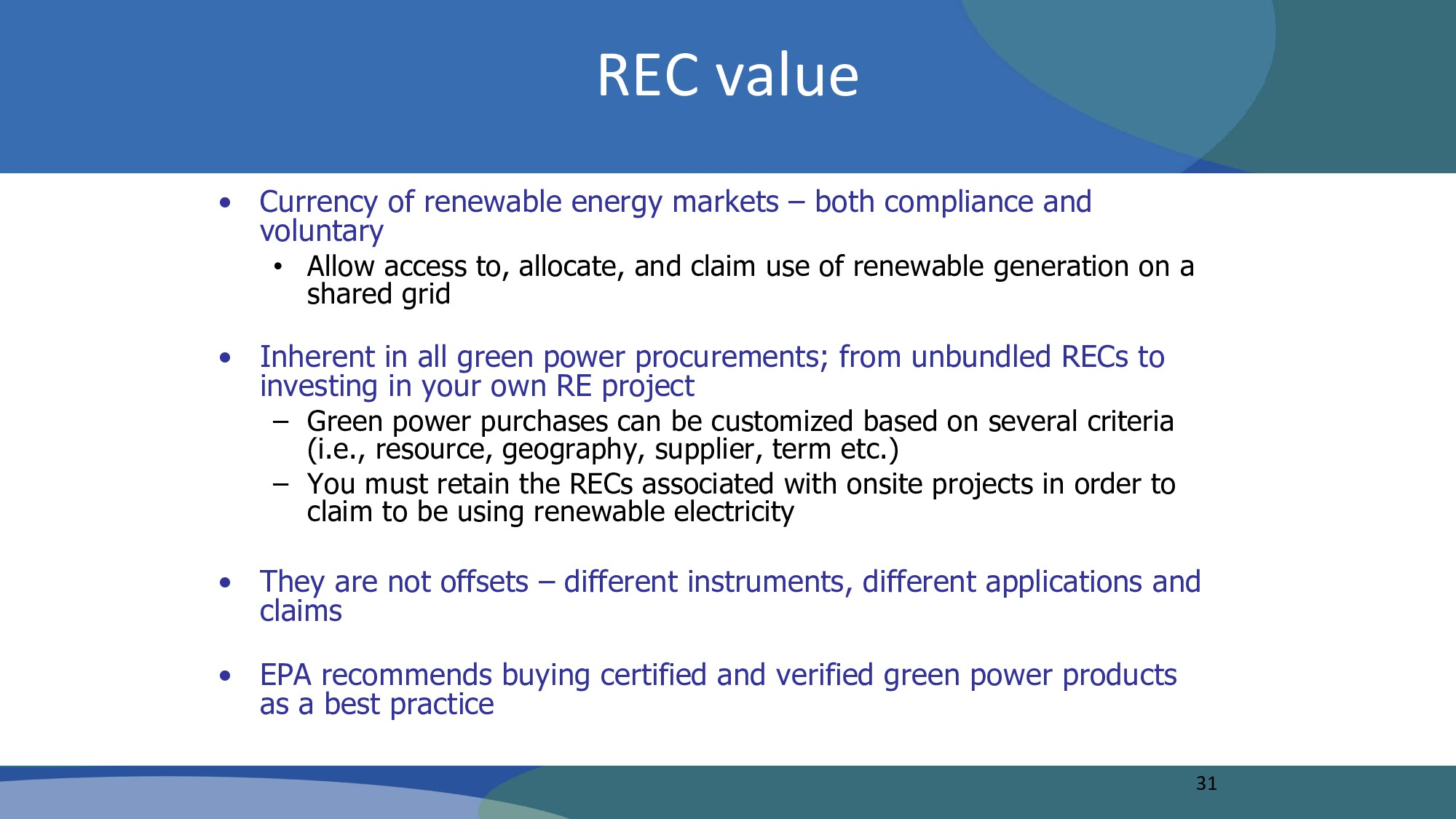 REC value • Currency of renewable energy market...