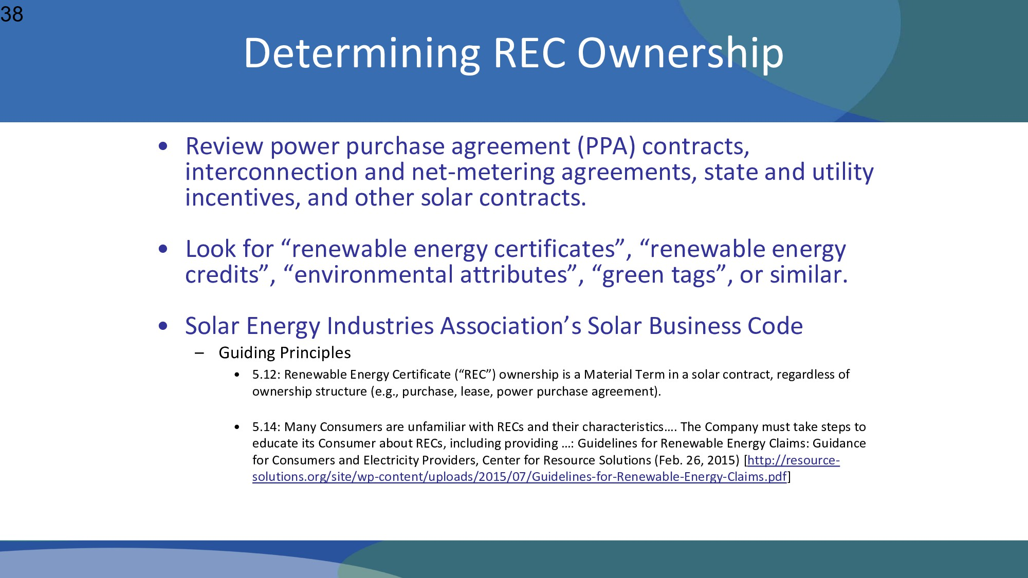 • Review power purchase agreement (PPA) contrac...