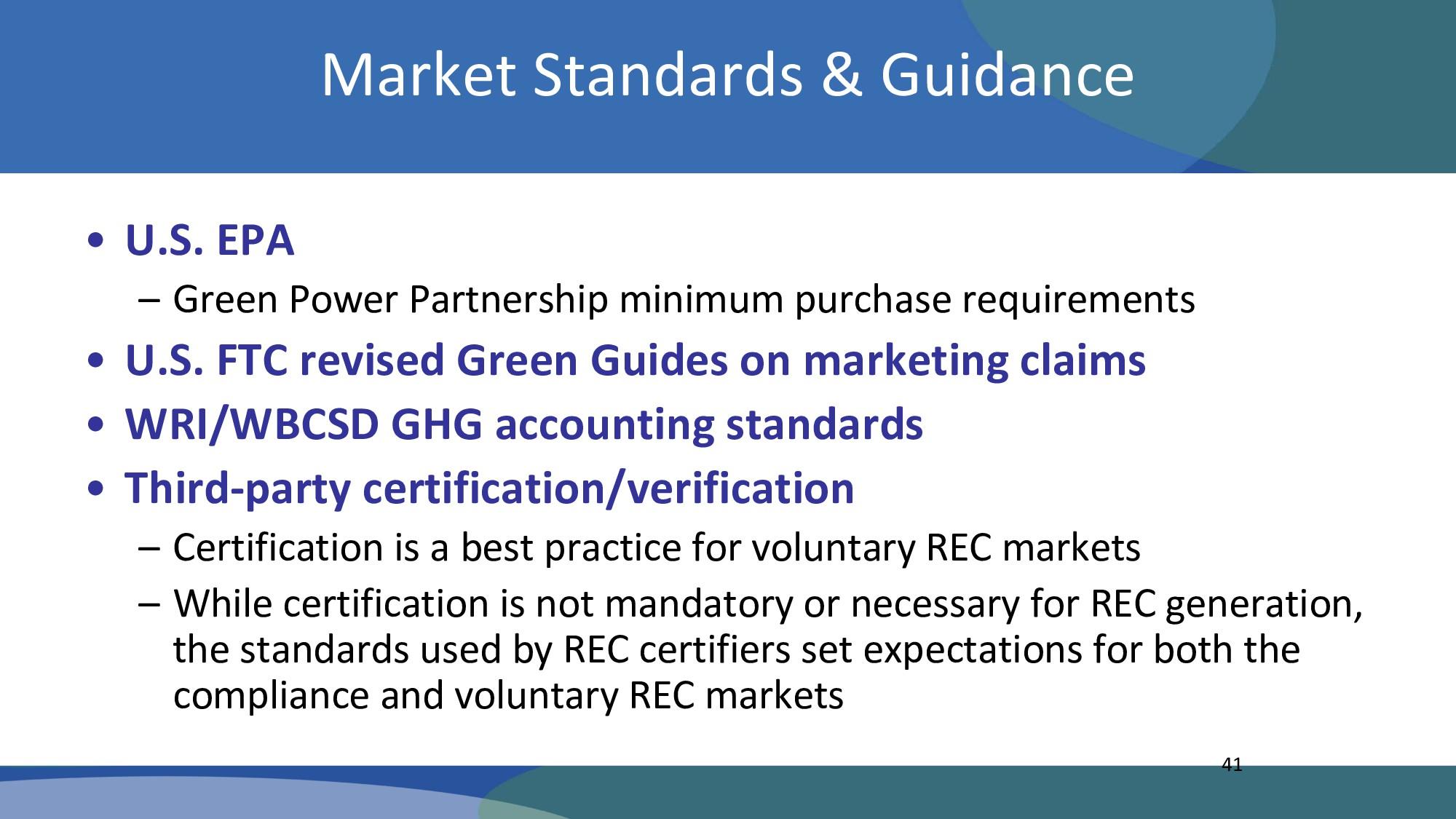 Market Standards & Guidance • U.S. EPA – Green ...