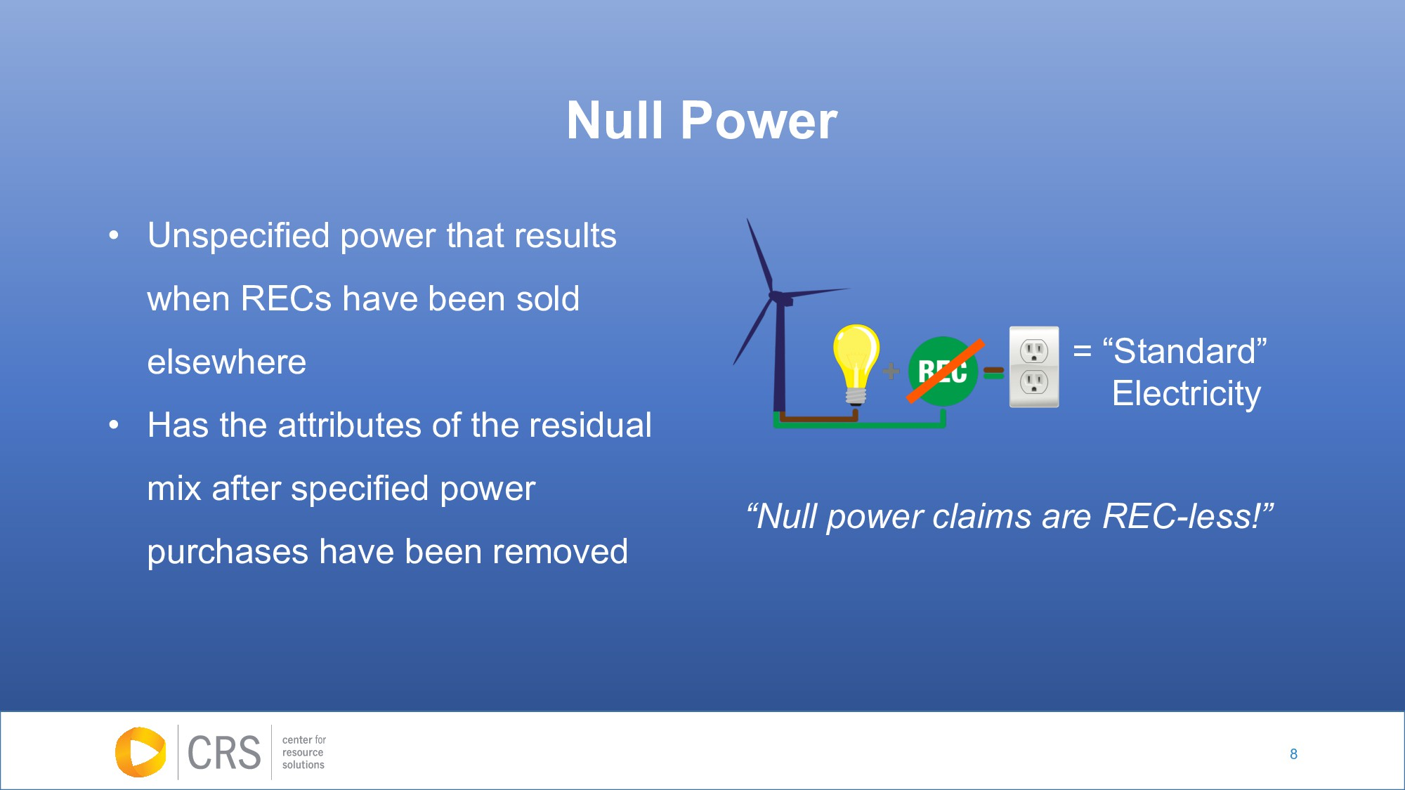 "8 Null Power = ""Standard"" Electricity ""Null pow..."