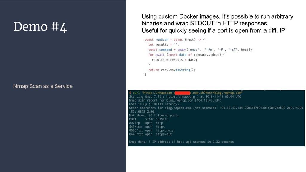 Demo #4 Nmap Scan as a Service Using custom Doc...