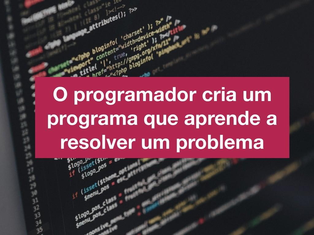 O programador cria um programa que aprende a re...