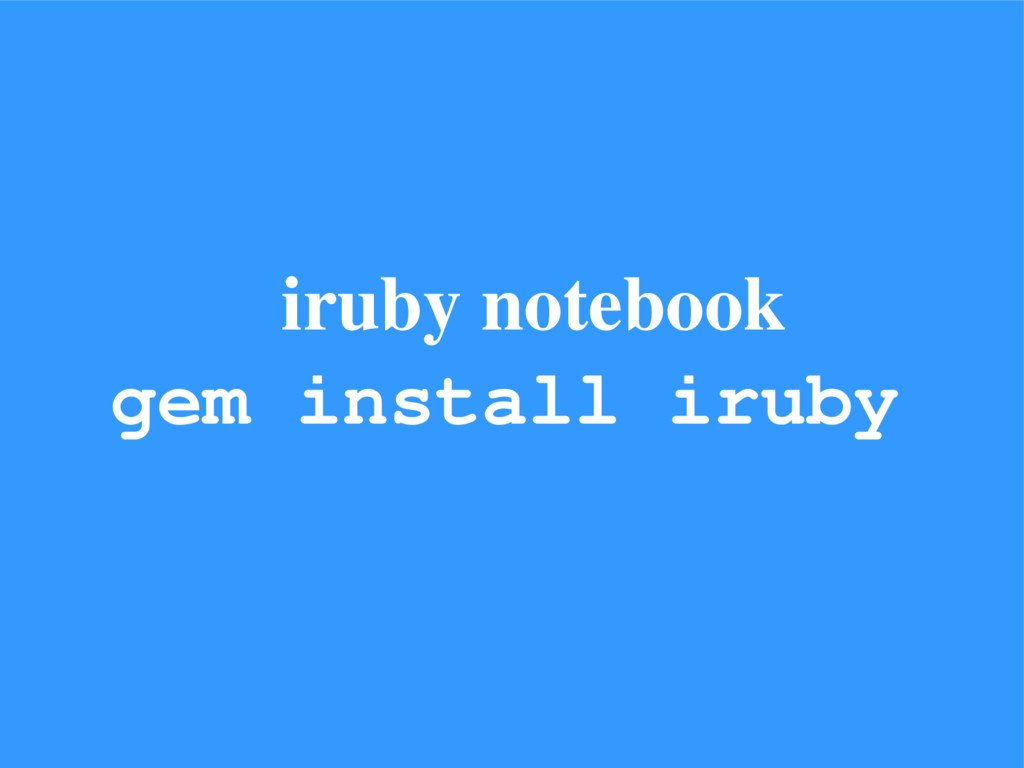 iruby notebook gem install iruby