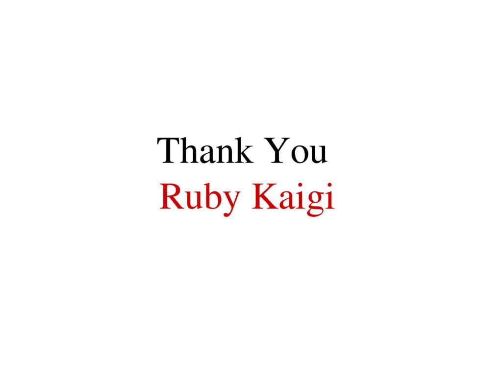 Thank You Ruby Kaigi