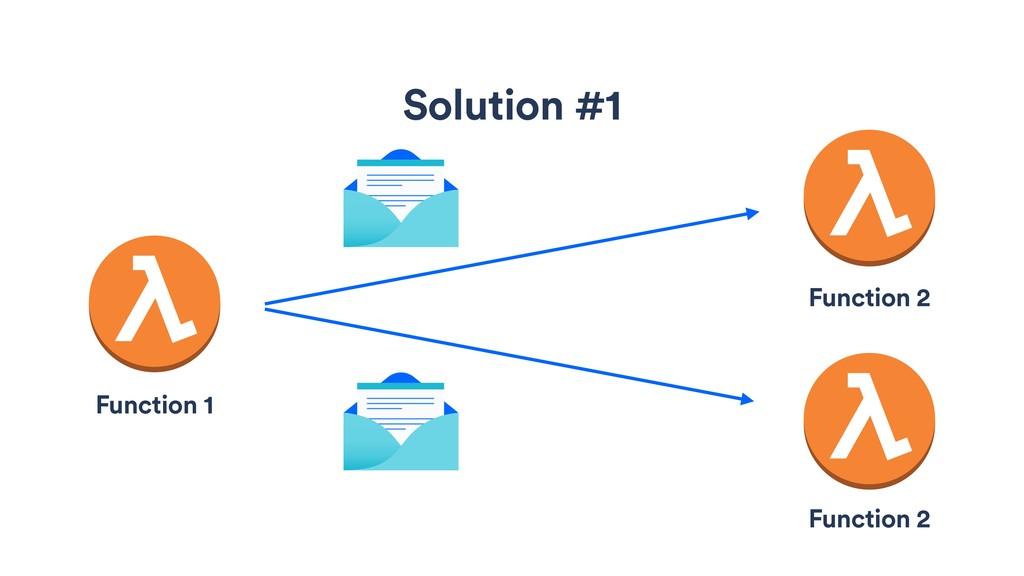 Solution #1 Function 1 Function 2 Function 2
