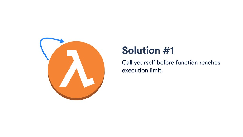Solution #1 Call yourself before function reach...