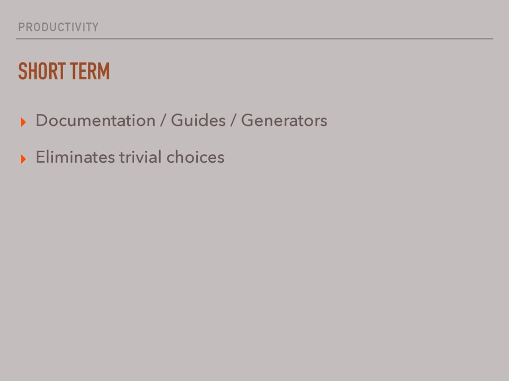 PRODUCTIVITY SHORT TERM ▸ Documentation / Guide...