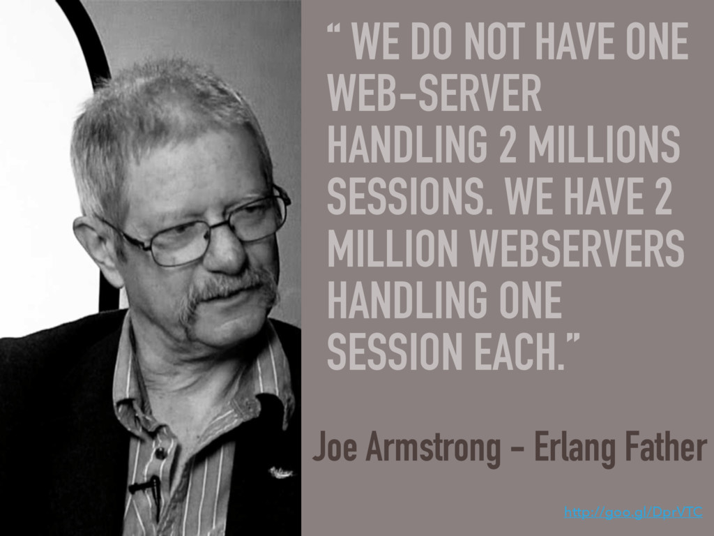 """"""" WE DO NOT HAVE ONE WEB-SERVER HANDLING 2 MILL..."""