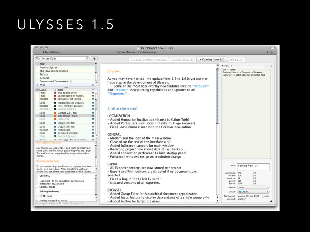 U LY S S E S 1 . 5