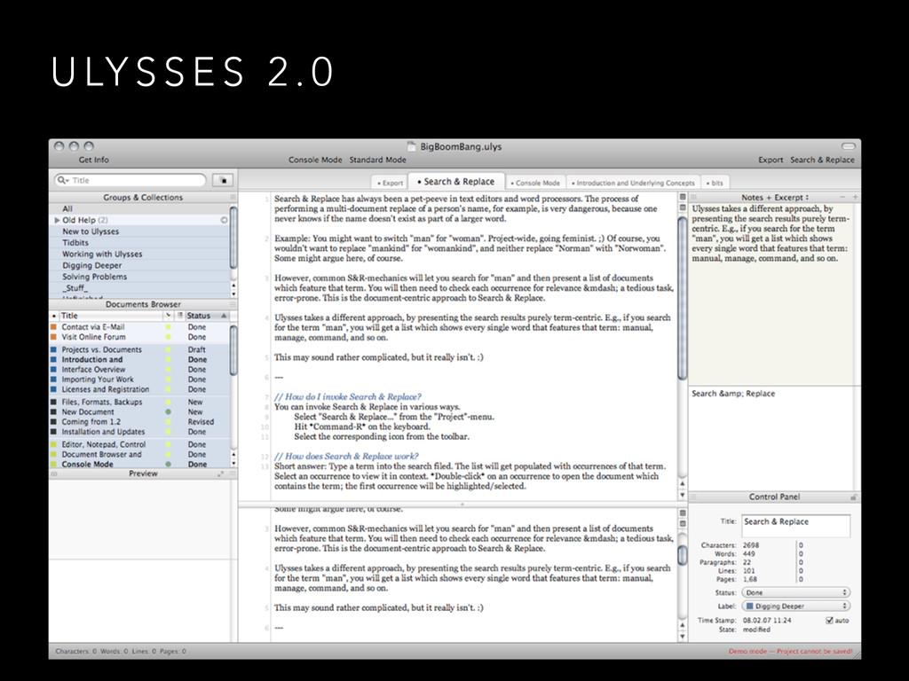 U LY S S E S 2 . 0