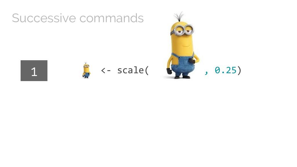 <- scale( , 0.25) 1 Successive commands