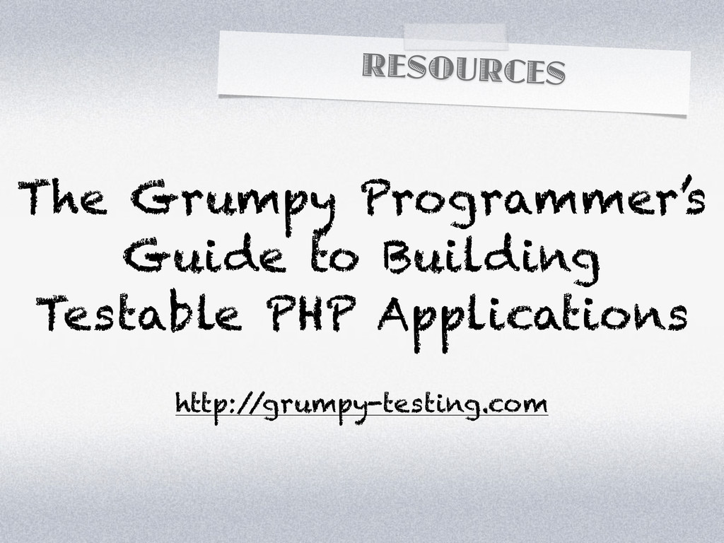 RESOURCES The Grumpy Programmer's Guide to Buil...