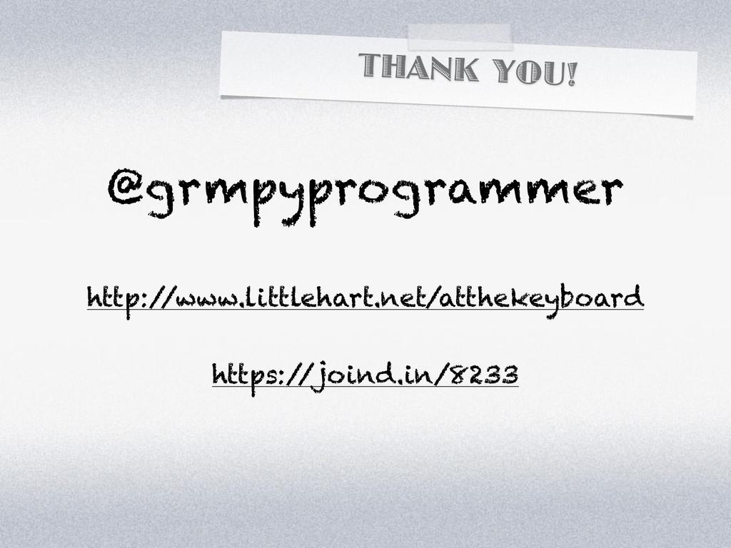 THANK YOU! @grmpyprogrammer http:/ /www.littleh...