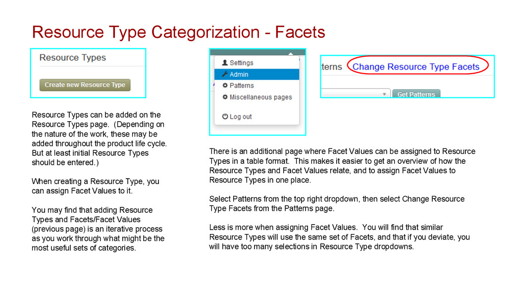 Resource Type Categorization - Facets Resource ...
