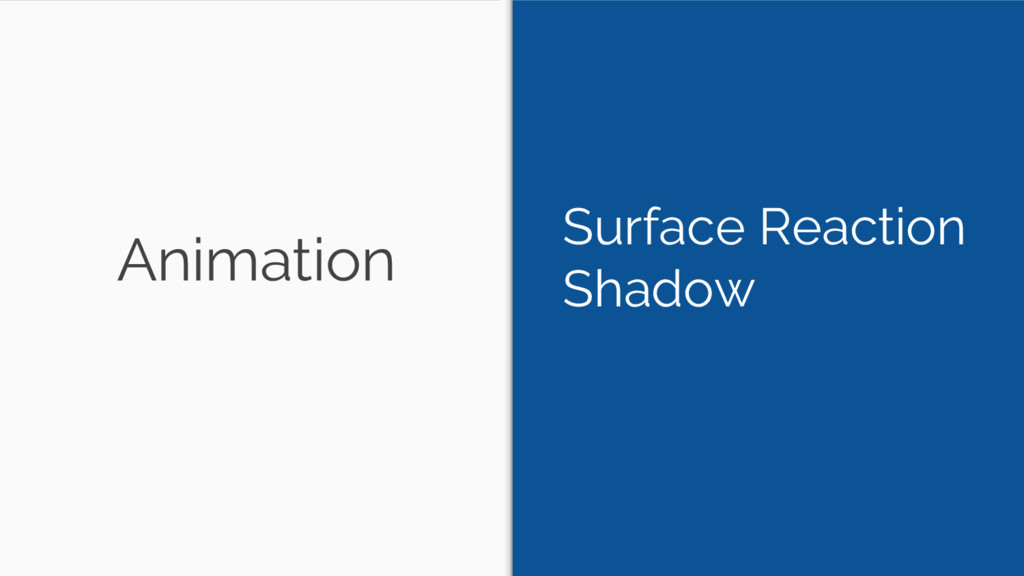 Animation Surface Reaction Shadow