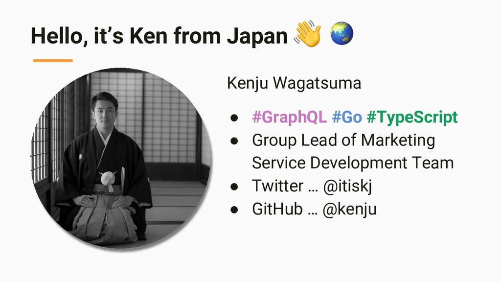 Hello, it's Ken from Japan Kenju Wagatsuma ● #G...