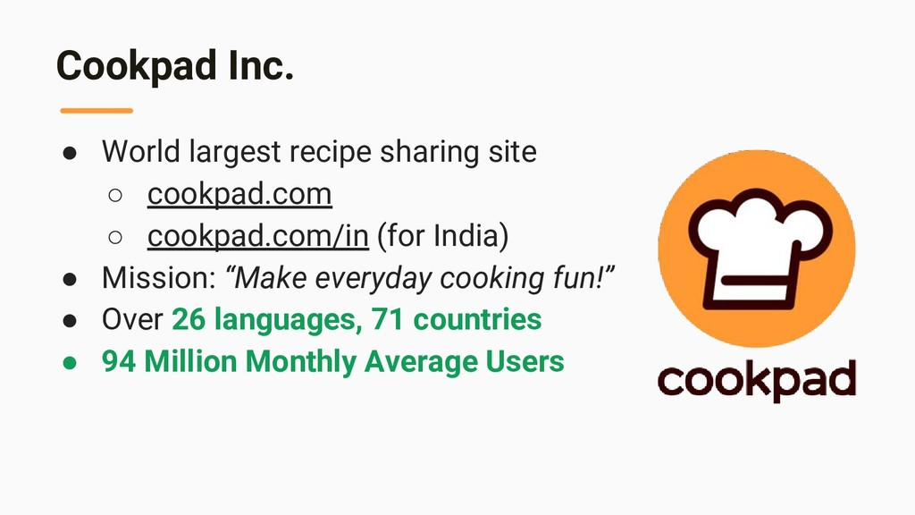 Cookpad Inc. ● World largest recipe sharing sit...