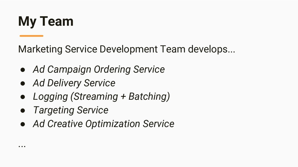 My Team Marketing Service Development Team deve...