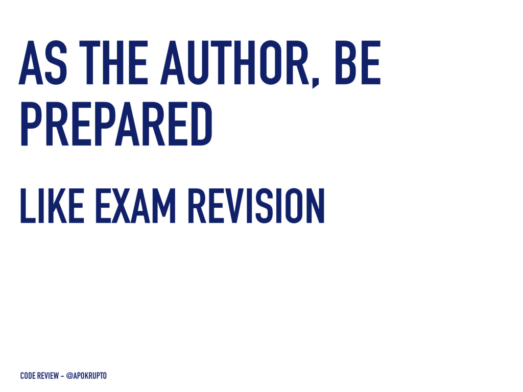 AS THE AUTHOR, BE PREPARED LIKE EXAM REVISION H...