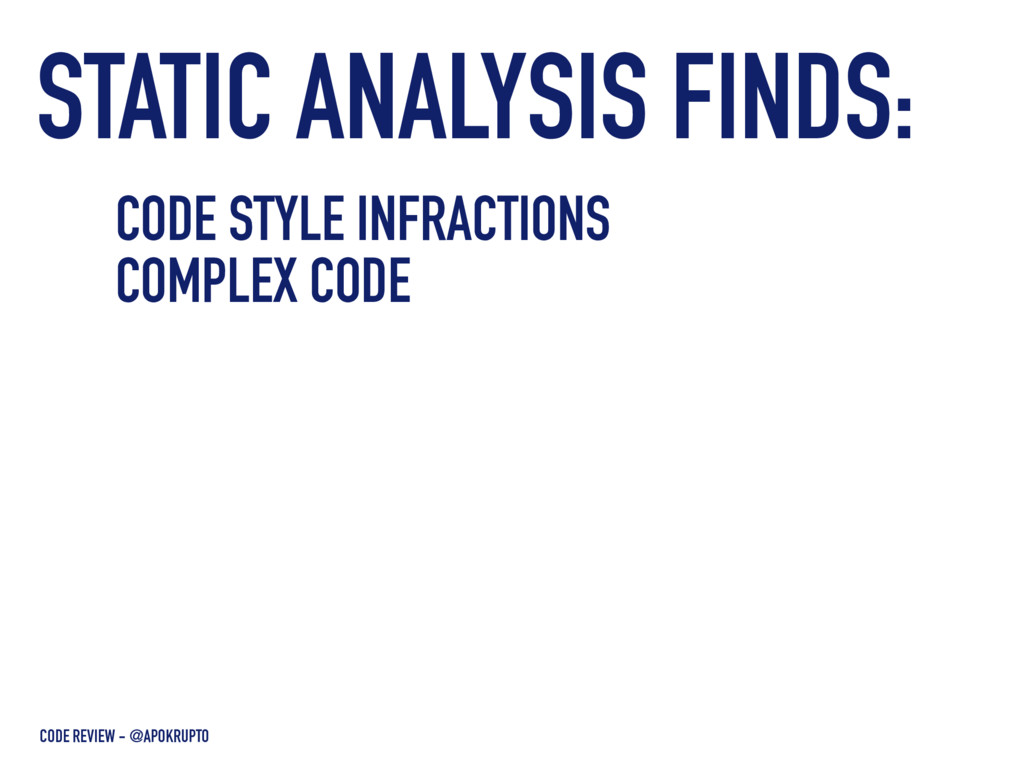 STATIC ANALYSIS FINDS: CODE REVIEW - @APOKRUPTO...