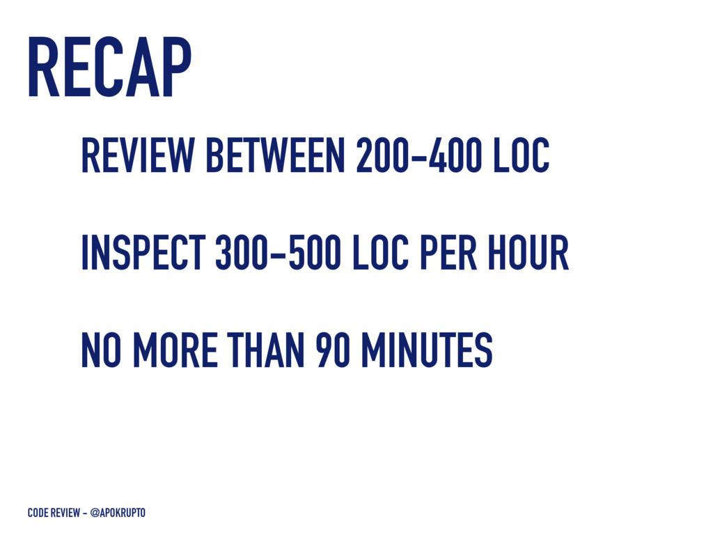 RECAP CODE REVIEW - @APOKRUPTO REVIEW BETWEEN 2...