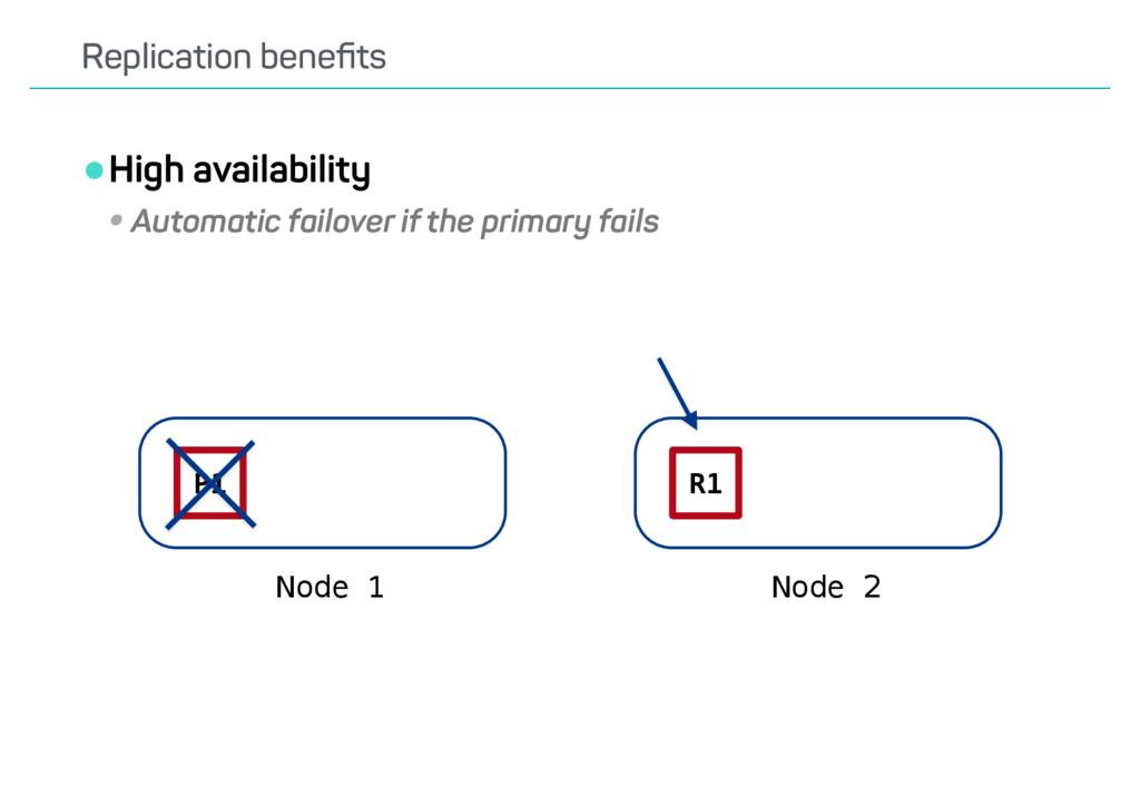 •High availability •Automatic failover if the p...