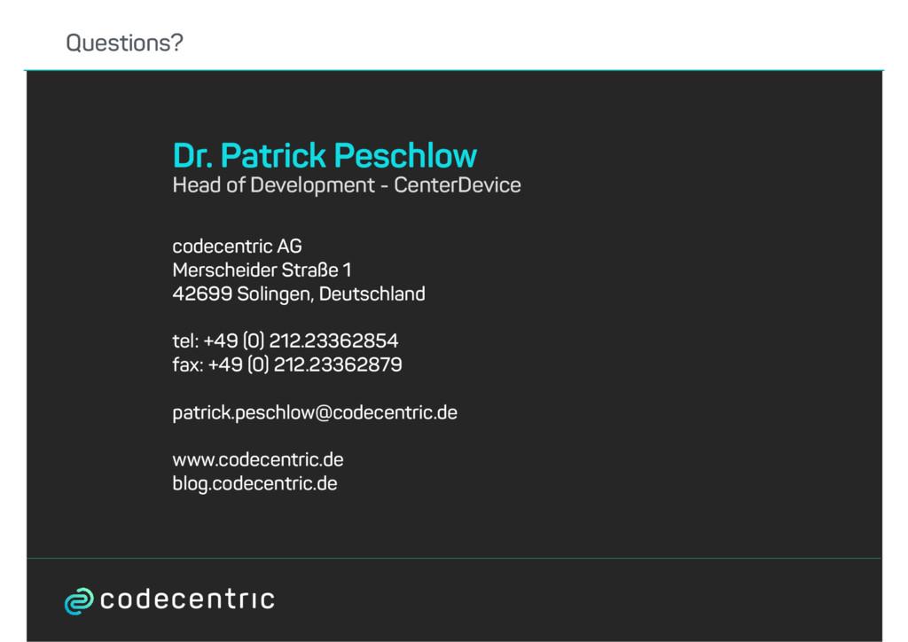 codecentric AG Merscheider Straße 1 42699 Solin...