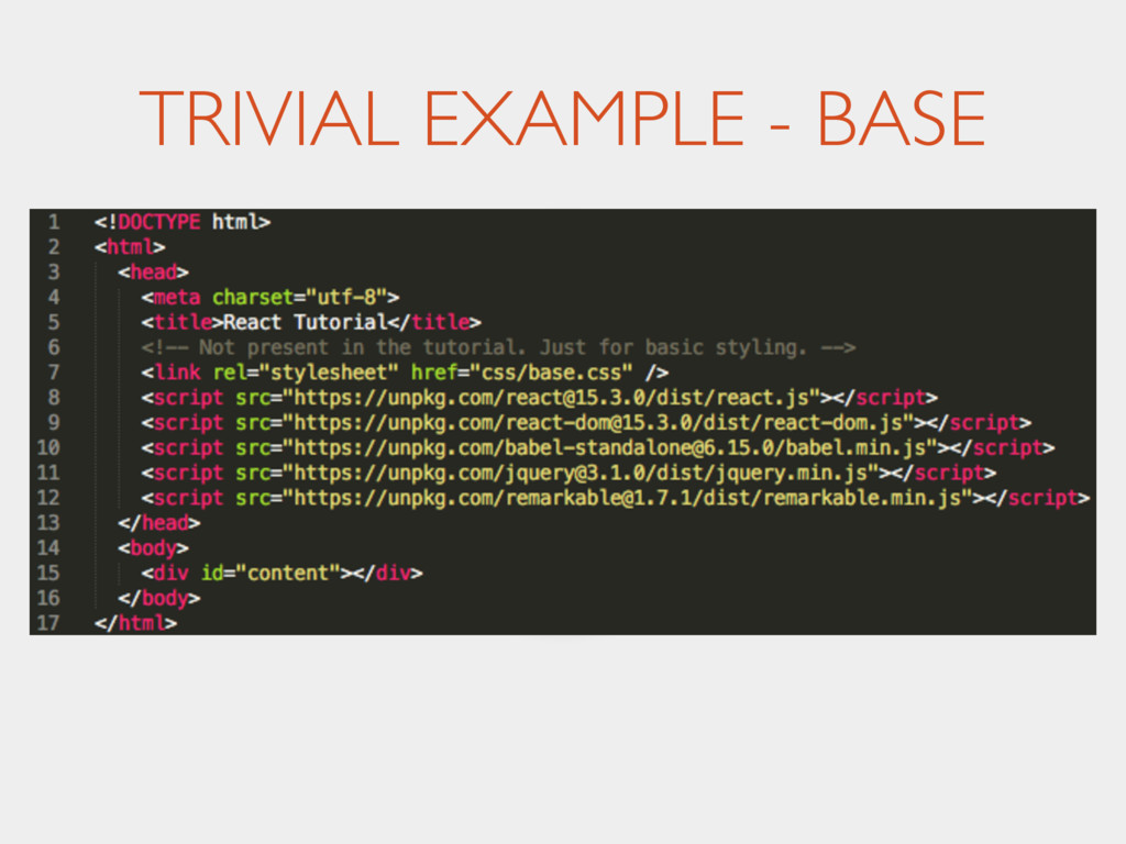 TRIVIAL EXAMPLE - BASE