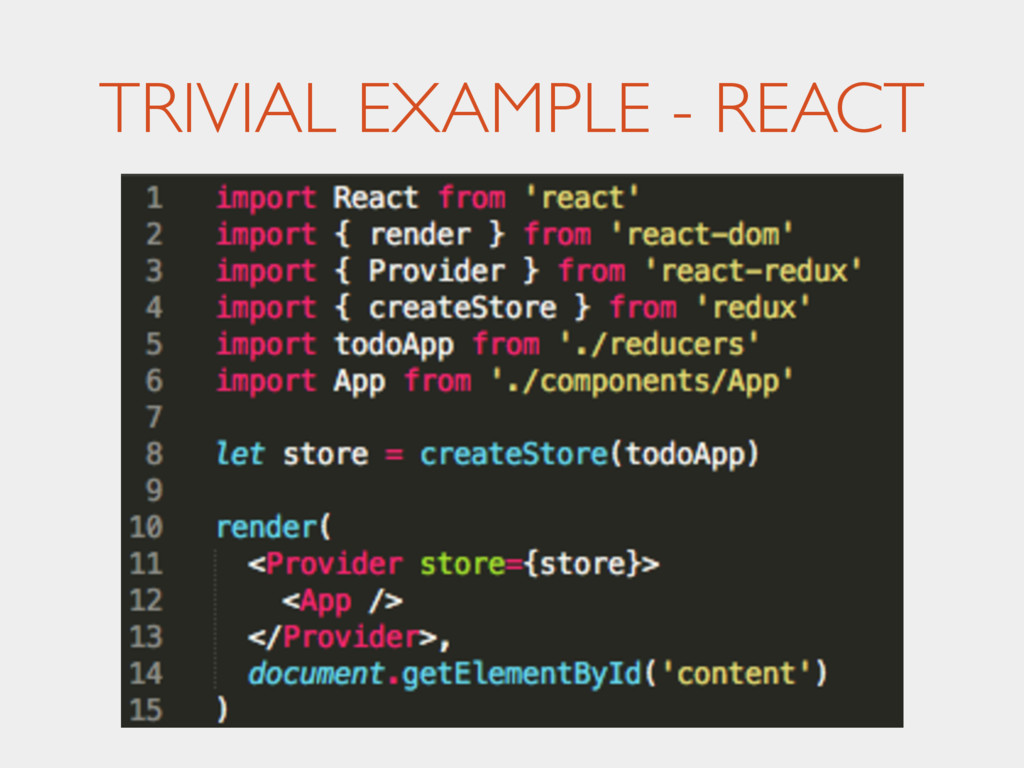 TRIVIAL EXAMPLE - REACT