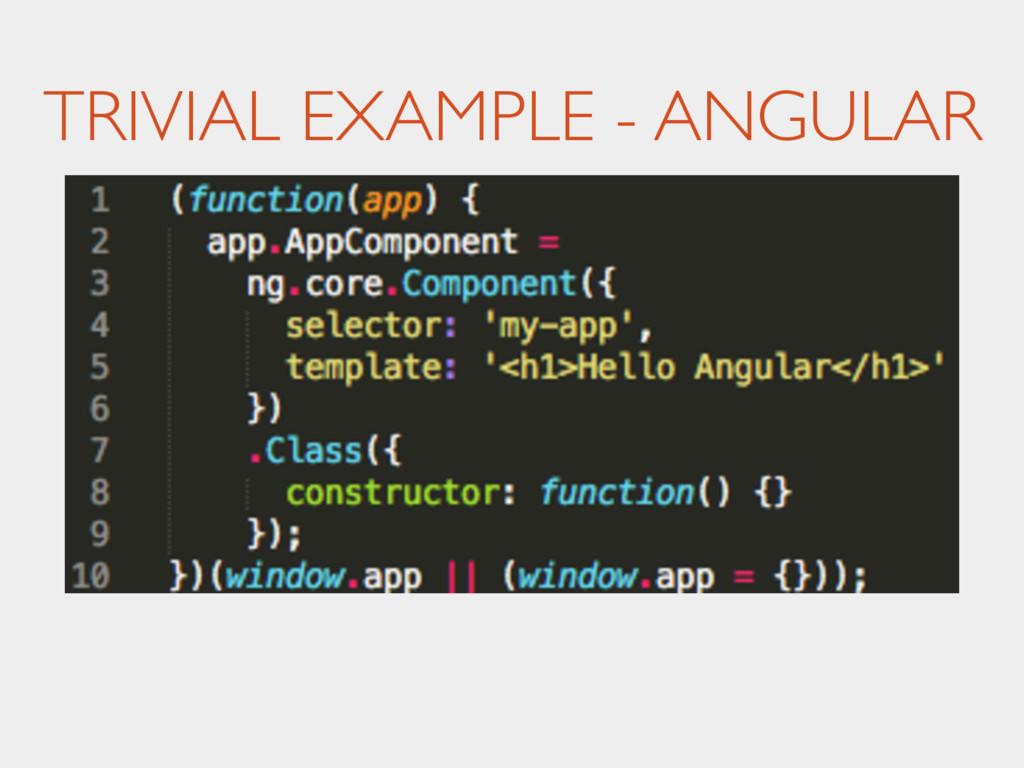 TRIVIAL EXAMPLE - ANGULAR