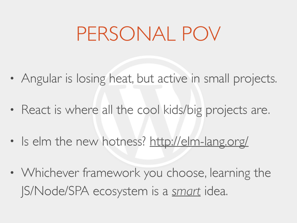 PERSONAL POV • Angular is losing heat, but acti...