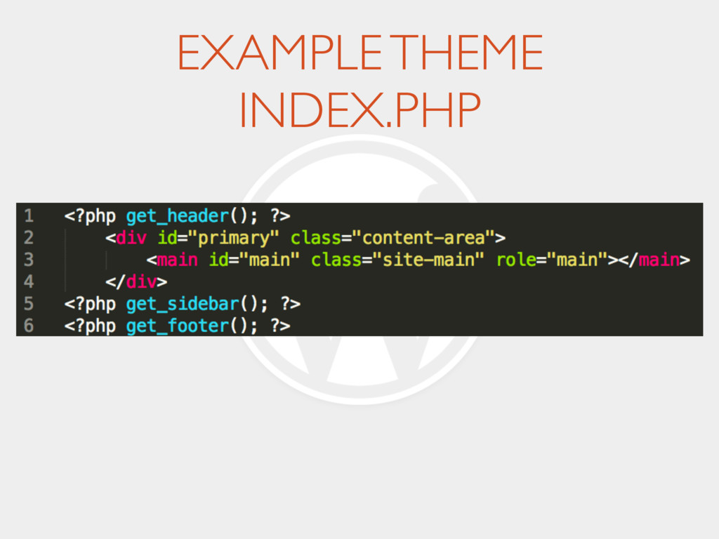 EXAMPLE THEME INDEX.PHP