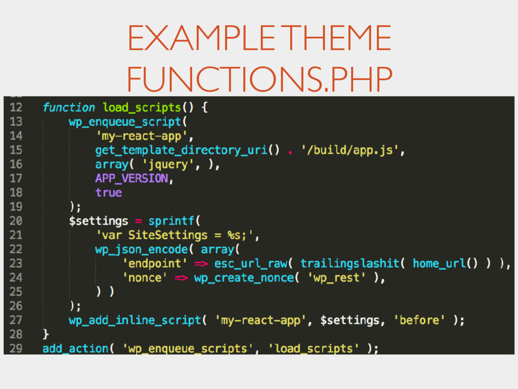 EXAMPLE THEME FUNCTIONS.PHP