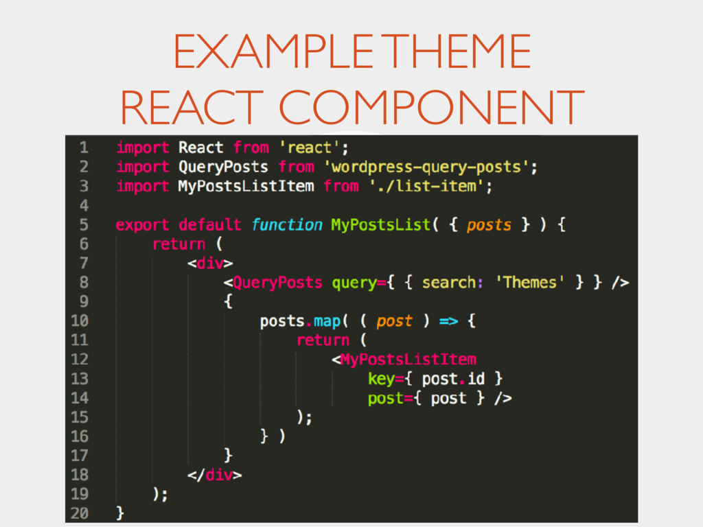 EXAMPLE THEME REACT COMPONENT