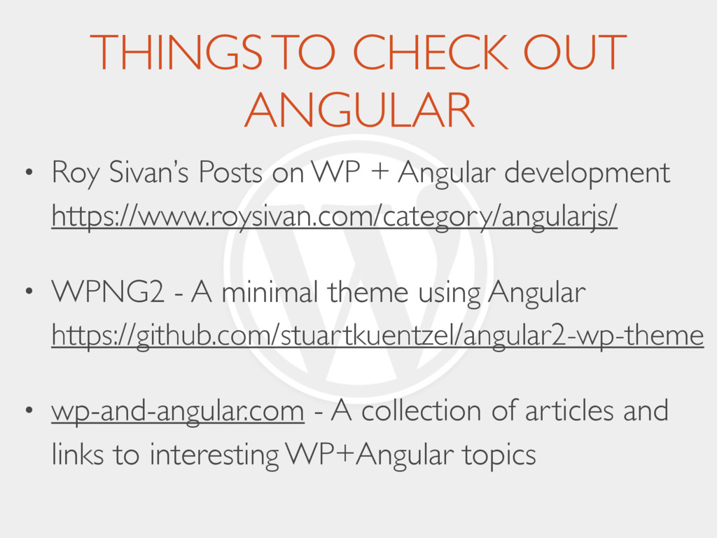 THINGS TO CHECK OUT ANGULAR • Roy Sivan's Posts...