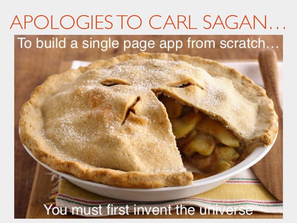 APOLOGIES TO CARL SAGAN…