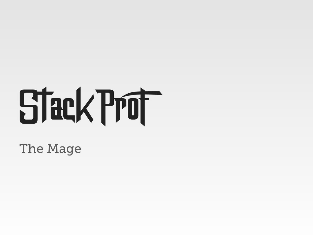 The Mage StackProF