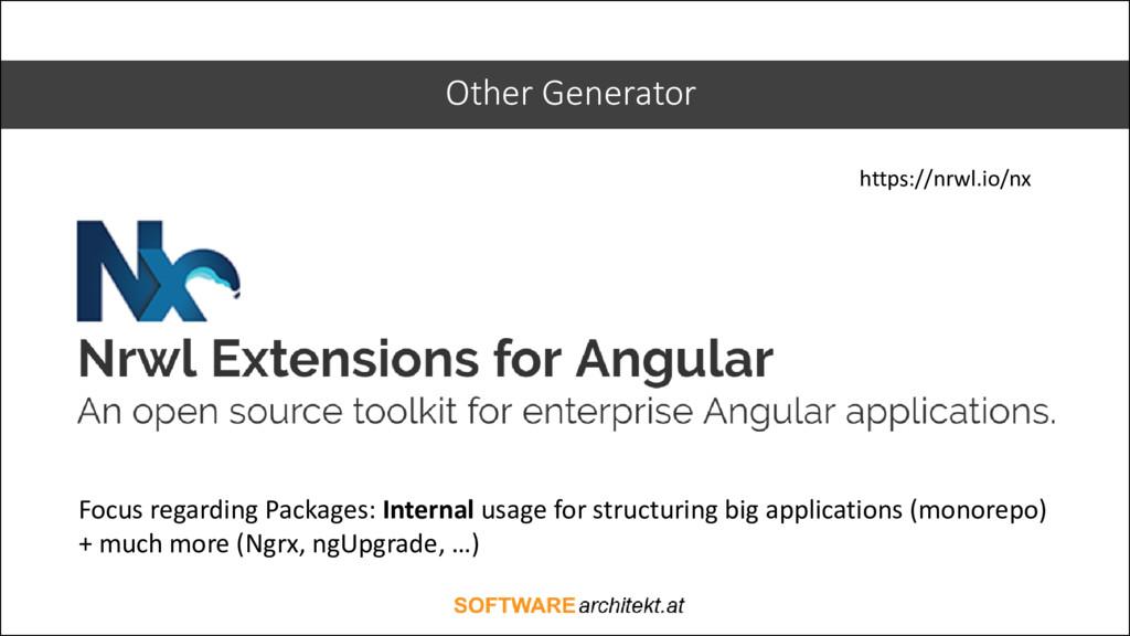 Other Generator Focus regarding Packages: Inter...