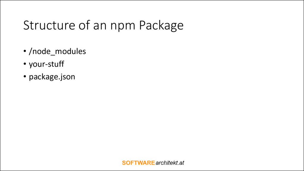 Structure of an npm Package • /node_modules • y...
