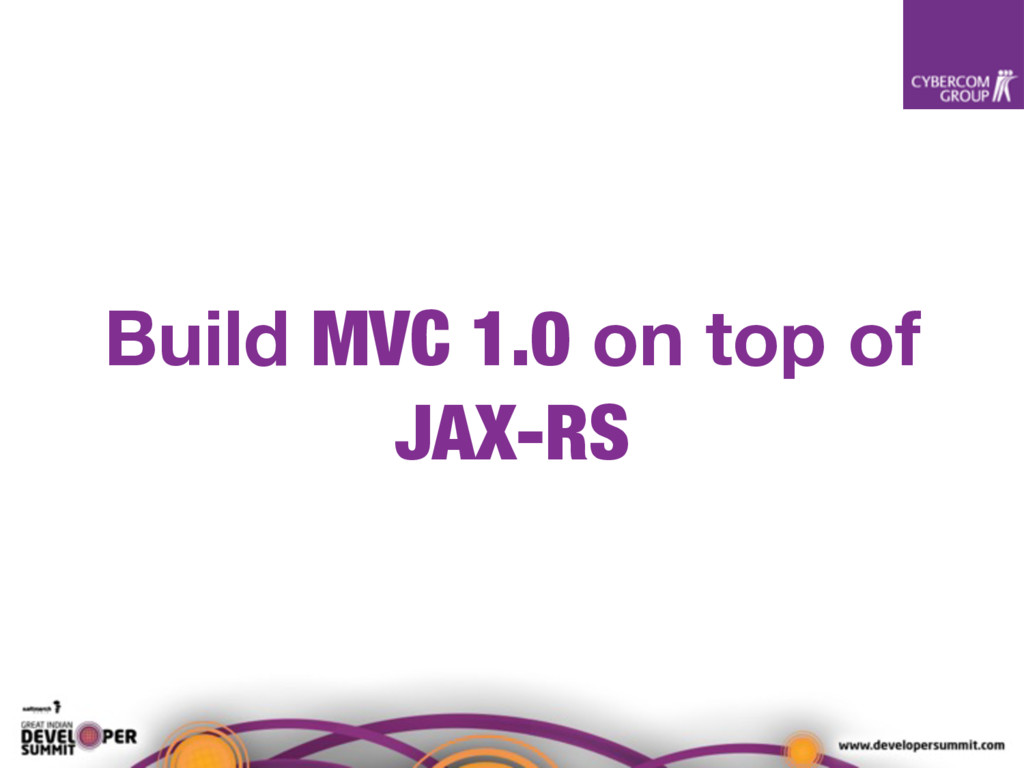 Build MVC 1.0 on top of JAX-RS